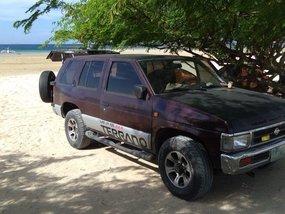Purple Nissan Terrano 1996 Wagon (Estate) at Manual  for sale in Manila
