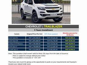 Brand New 2019 Chevrolet Trailblazer in Pasig - WE CATER ALL BRANDS