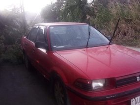 Red Toyota Corolla 1991 for sale in Bacolor