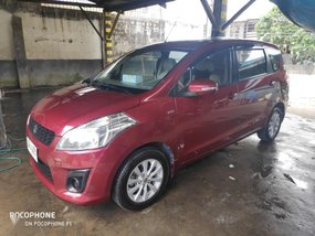 Red Suzuki Ertiga 2015 for sale in Manual