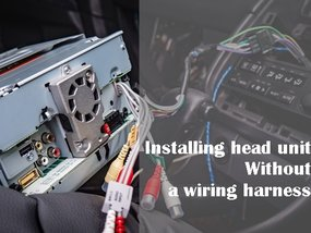 This is how you install head unit without a wiring harness