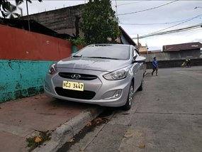 Silver Hyundai Accent 2017 for sale in Bautista