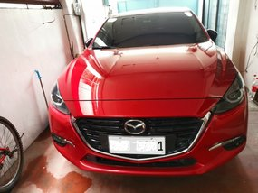 Sell Red 2017 Mazda 3 Hatchback at 13000 in Manila