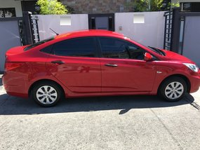 Red Hyundai Accent 2017 Rush for Sale in Las Pinas