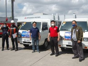 Mitsubishi PH lends out several L300 units to transport essential workers
