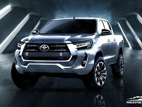 2021 Toyota Hilux facelift rendering shows better view of new face