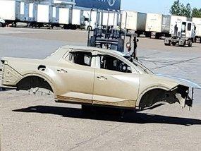 Hyundai Santa Cruz pickup leaked showing unconventional production body