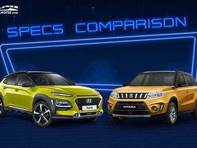 2020 Hyundai Kona vs Suzuki Vitara Comparison: Spec Sheet Battle