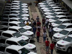 A fleet of Nissan Navara will be used for response efforts in Batangas
