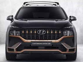 Dressed-up Hyundai Santa Fe looks snazzy with a cheese grater grille
