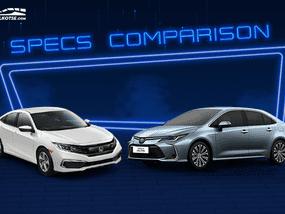 2020 Toyota Corolla Altis vs Honda Civic Comparison: Spec Sheet Battle