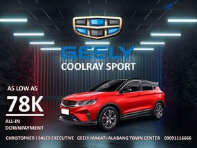 Geely Coolray  1.5Turbo AT With ₱88,000 All-in Down payment