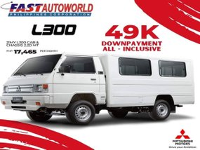 Mitsubishi L300 Cab & Chassis 2.2D MT With ₱174,656 Low monthly