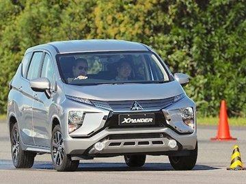 A Mitsubishi Xpander at a test drive event