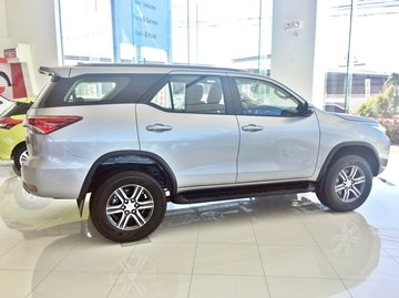 Side profile of a brand new Toyota Fortuner for sale at Toyota Santa Rosa dealership