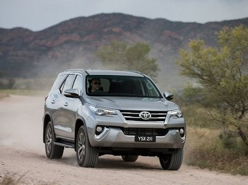 Toyota Fortuner on the road