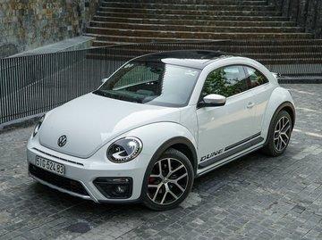 second hand white volkswagen beetle