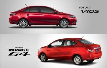 Mirage G4 vs Vios: Who takes the honor in B-segment sedan?