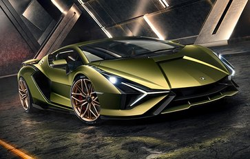 Take a first look at the Lamborghini Sian, the brand's first hybrid car