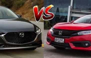 2020 Honda Civic RS Turbo vs Mazda3 Comparison: Spec Sheet Battle