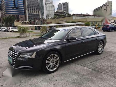 2012 Audi A8 4 2l Quattro Black For Sale