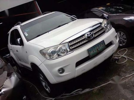 Fortuner White Manual 2.5 G 4X2 For 735K ONLY