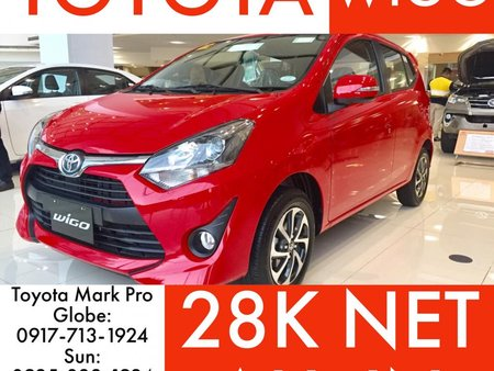 Red 2019 Toyota Wigo for sale in Metro Manila