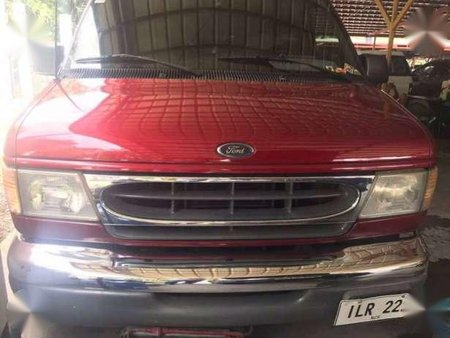2002 Ford E-150 Chateau Red Van For Sale