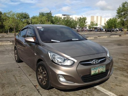 Hyundai Accent 2012 Automatic 1.4L Gas Brown For Sale