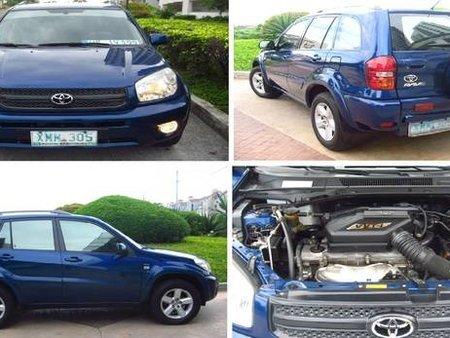 2005 TOYOTA RAV4 BLUE A/T For Sale