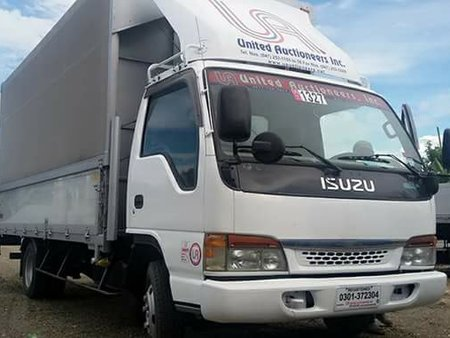 2007 Isuzu Elf Canvass Wingvan 4hj1 16.5ft with Power Lifter For Sale
