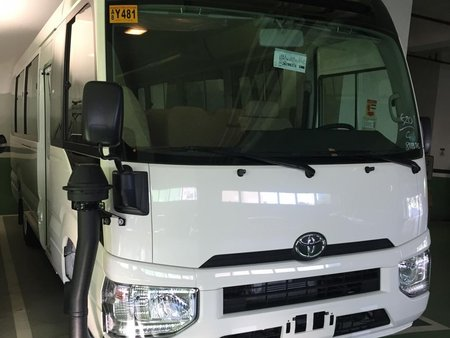 White 2019 Toyota Coaster Van for sale in Manila