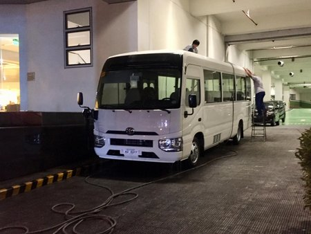 White 2019 Toyota Coaster for sale in Palawan