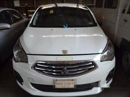 White Mitsubishi Mirage G4 2016 Manual Gasoline for sale in Makati