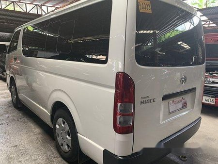 White Toyota Hiace 2019 Manual Diesel for sale in Quezon City