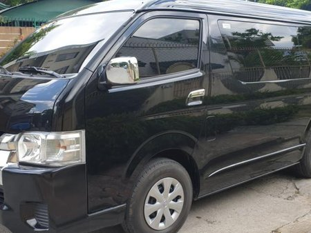 Selling Black Toyota Hiace 2018 Manual Diesel at 10000 km in Quezon City