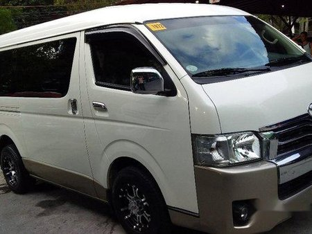 White Toyota Hiace 2015 for sale in Pasig