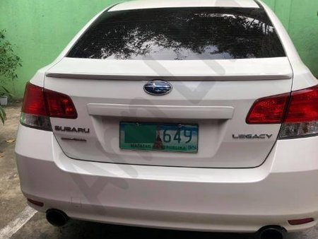 Selling Pearl White Subaru Legacy 2012 Sedan Automatic Gasoline in Manila
