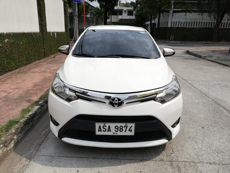 White 2015 Toyota Vios at 80000 km for sale in Makati