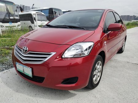Red 2010 Toyota Vios at 54000 km for sale