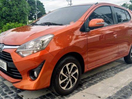 Orange Toyota Wigo 2018 Automatic at 10000 km for sale
