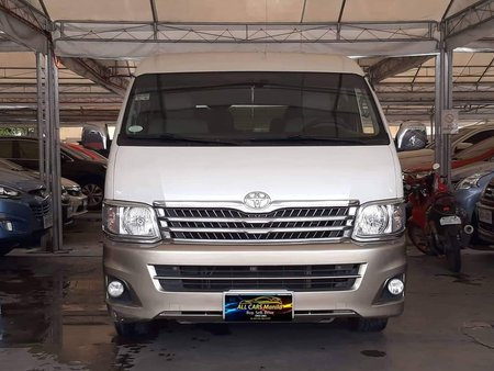 White 2013 Toyota Hiace Automatic Diesel for sale in Makati