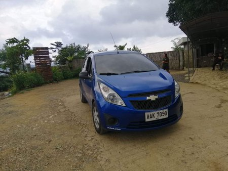 Blue Chevrolet Spark 2014 Hatchback at 38000 km for sale