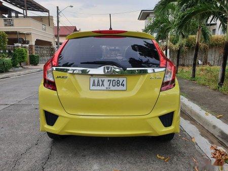 Yellow Honda Jazz 2015 Hatchback at 45000 km for sale