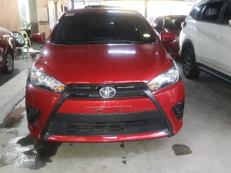 Red 2016 Toyota Yaris Hatchback Automatic Gasoline for sale
