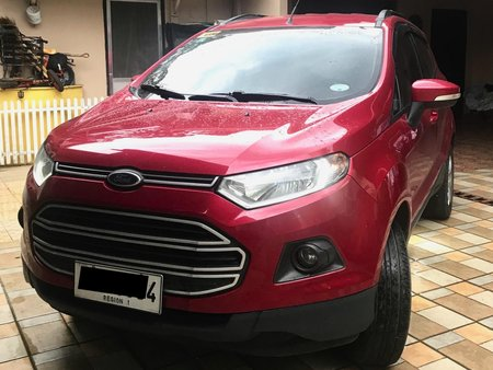 Red Ford Ecosport 2014 at 87000 km for sale