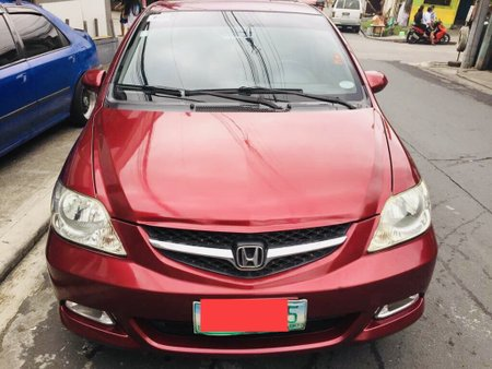 Red Honda City 2007 at 134000 km for sale