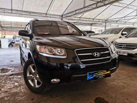 Black 2009 Hyundai Santa Fe Automatic Diesel for sale