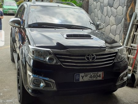 Black Toyota Fortuner 2016 Automatic Diesel for sale in Manila