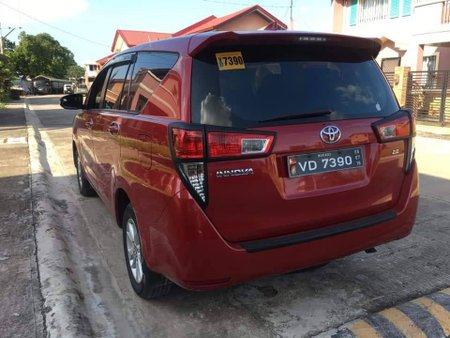 Red 2017 Toyota Innova Manual Diesel for sale